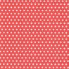 Bílé puntíky na červené, maličké 33x33