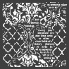 Šablona Mix Media 18x18 - Ornament, písmo (Stamperia)
