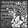 Šablona Mix Media 18x18 - Tapeta, noty (Stamperia)