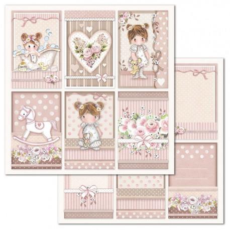 Little Girl, kartičky 30,5x30,5 scrapbook
