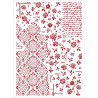Šablona - House of Roses, tapeta (A4)