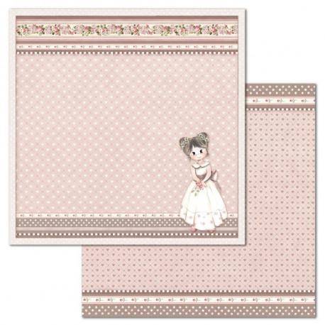 Little Girl, srdíčka 30,5x30,5 scrapbook