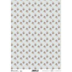 Papír rýžový A4 Vintage vzor s růžičkami I.
