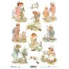 Papír soft A4 Velikonoční malovaný, děti s košíkem