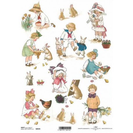 Papír soft A4 Velikonoční malovaný s dětmi I.