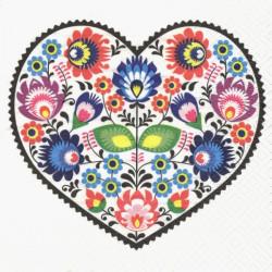 Srdce s lidovým motivem 33x33
