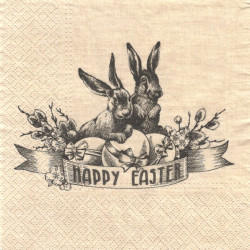Happy Easter Vintage 33x33