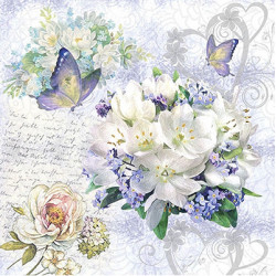 Květy a písmo 33x33
