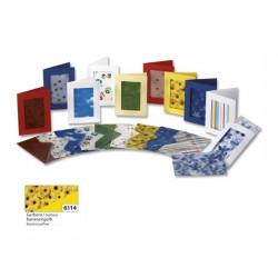 Set 3ks přáníček 10,5x15cm a transparentních obálek, gerbery, žlutá (F)