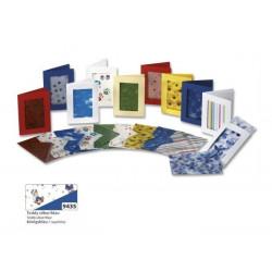 Set 3ks přáníček 10,5x15cm a transparentních obálek, medvídci, modrá (F)