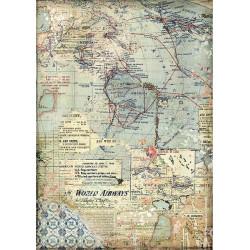 Papír rýžový A4 Around The World, mapa