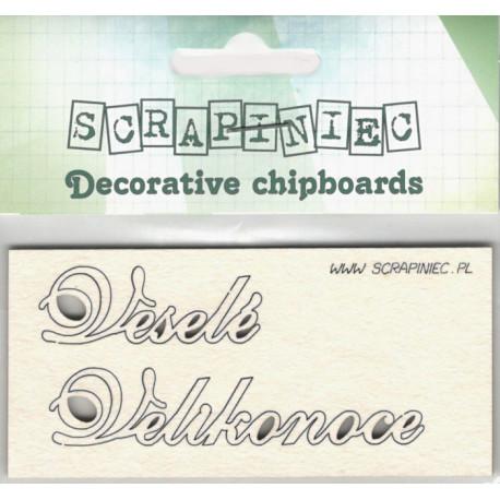 Veselé Velikonoce - 2ks chipboards