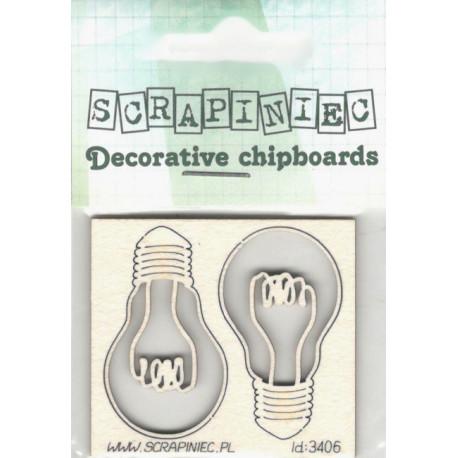 Žárovky - 2ks chipboards