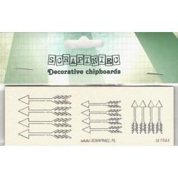 Šípy - 12ks chipboards