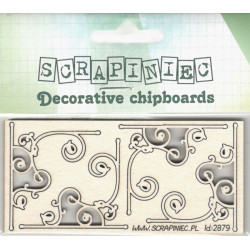 Ornamenty se spirálkami - 4ks chipboards