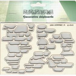 Kamenná zeď - 4ks chipboards