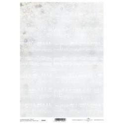 Scrap.papír A4 - notový záznam na šedé