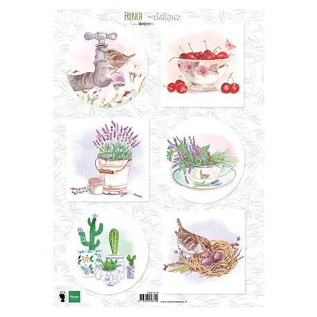 Papír A4 French antiques lavender (MD)