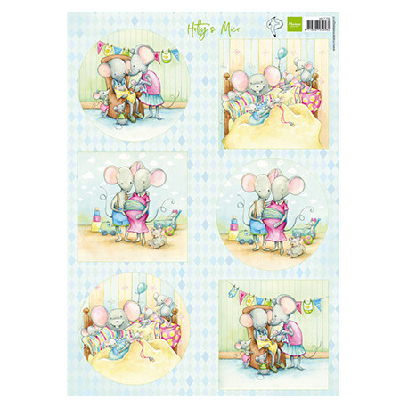 Papír A4 Hetty's mice new born (MD)