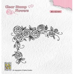 Transp.razítko Roh z růží (Nellie Snellen)