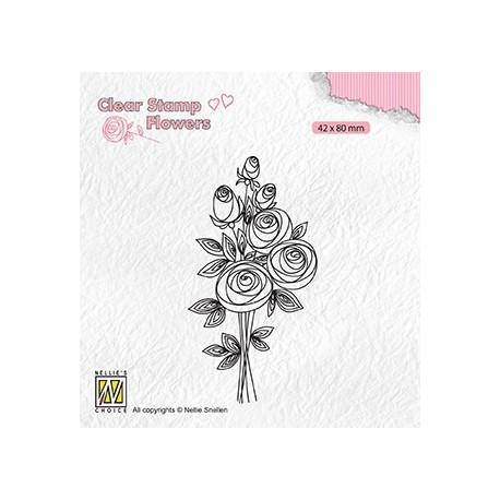 Transp.razítko Kytice růží (Nellie Snellen)