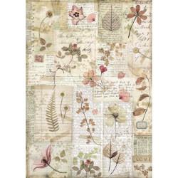 Papír rýžový A4 Imagine, lisované květy