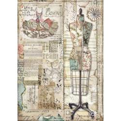 Papír rýžový A4 Imagine, krejčovská panna