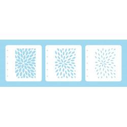 Set 3ks šablon k vrstvení - paprsky (Layered Combi Stencil)