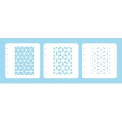 Set 3ks šablon k vrstvení - květina (Layered Combi Stencil)