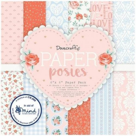 Sada papírů 15x15 Paper Posies (Dovecraft)