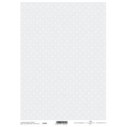 Scrap.papír A4 Puntíky na šedomodré