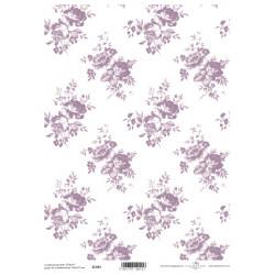 Scrap.papír A4 Celoplošný, růžičky fialkové větší