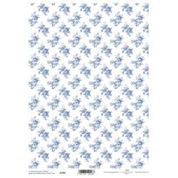 Scrap.papír A4 Celoplošný, růžičky modré