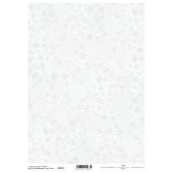 Scrap.papír A4 Sněhové vločky jemné