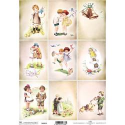 Scrap.papír A4 Velikonoční, kartičky retro