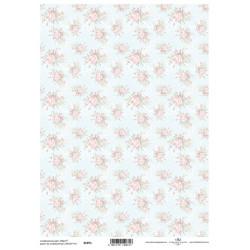 Scrap.papír A4 Celoplošný, růžičky světle růžové