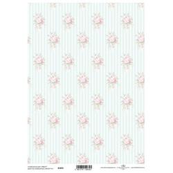 Scrap.papír A4 Celoplošný, růžičky světle růžové větší