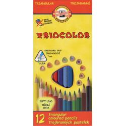 Souprava trojhraných pastelek 12 barev