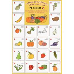 Pexeso Učíme se anglicky - ovoce a zelenina