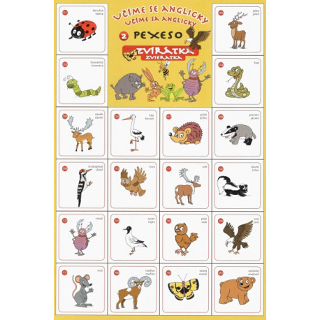 Pexeso Učíme se anglicky - zvířátka