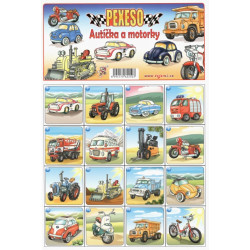 Pexeso - Autíčka a motorky