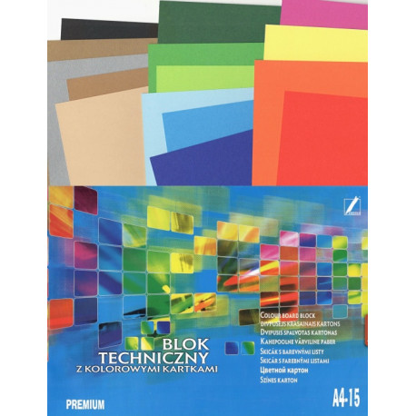 Skicák PREMIUM A4 170g mix barev