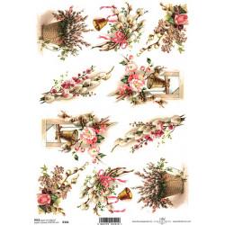Papír rýžový A4 Jarní kytice