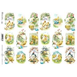 Papír rýžový A4 Veselé Velikonoce dvakrát