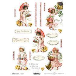 Papír rýžový A4 Velikonoční s dívkami