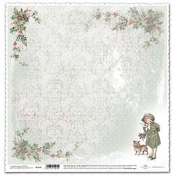 Vánoční s dívkou - scrap.papír 315x32,5 200g