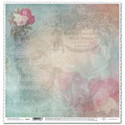 Růže, tyrkysová - scrap.papír 315x32,5 200g