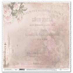 Světle růžové růže, písmo - scrap.papír 315x32,5 200g