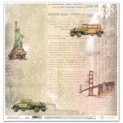 Vintage tisk, New York - scrap.papír 31,5x32,5 200g