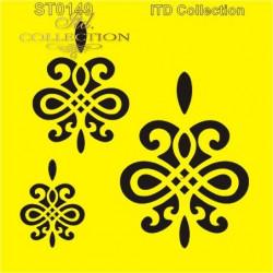 Šablona ITD - Smyčkové ornamenty 16x16
